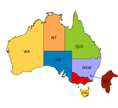 Free Clipart Map Of Queensland