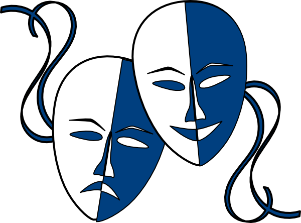 Theatre Masks Clip art - Symbols - Download vector clip art online