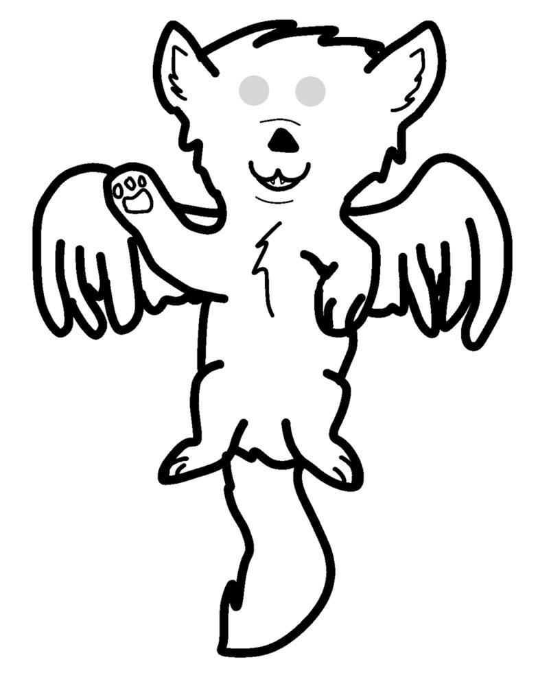 how to draw a winged wolf