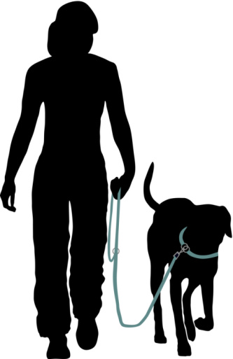 silhouette dog walking clipart best