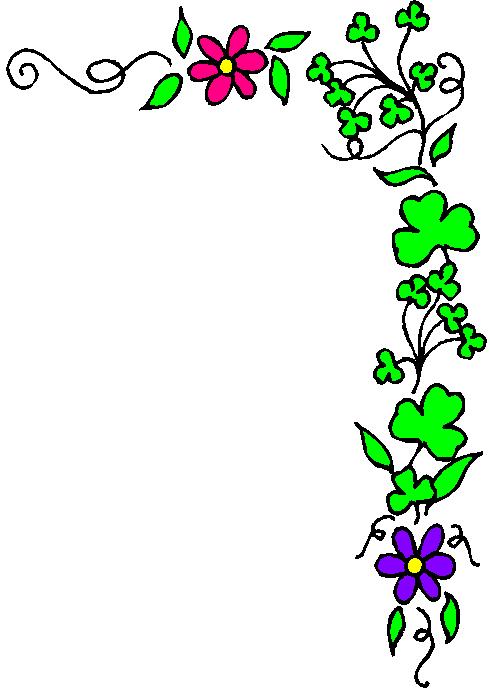 clipart flower corner border - photo #16