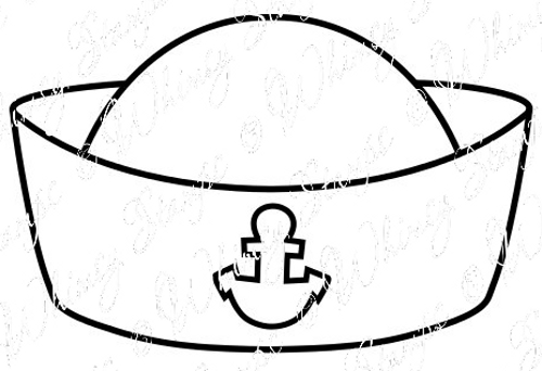Sailor hat drawing the image kid has it for Navy sailor coloring pages