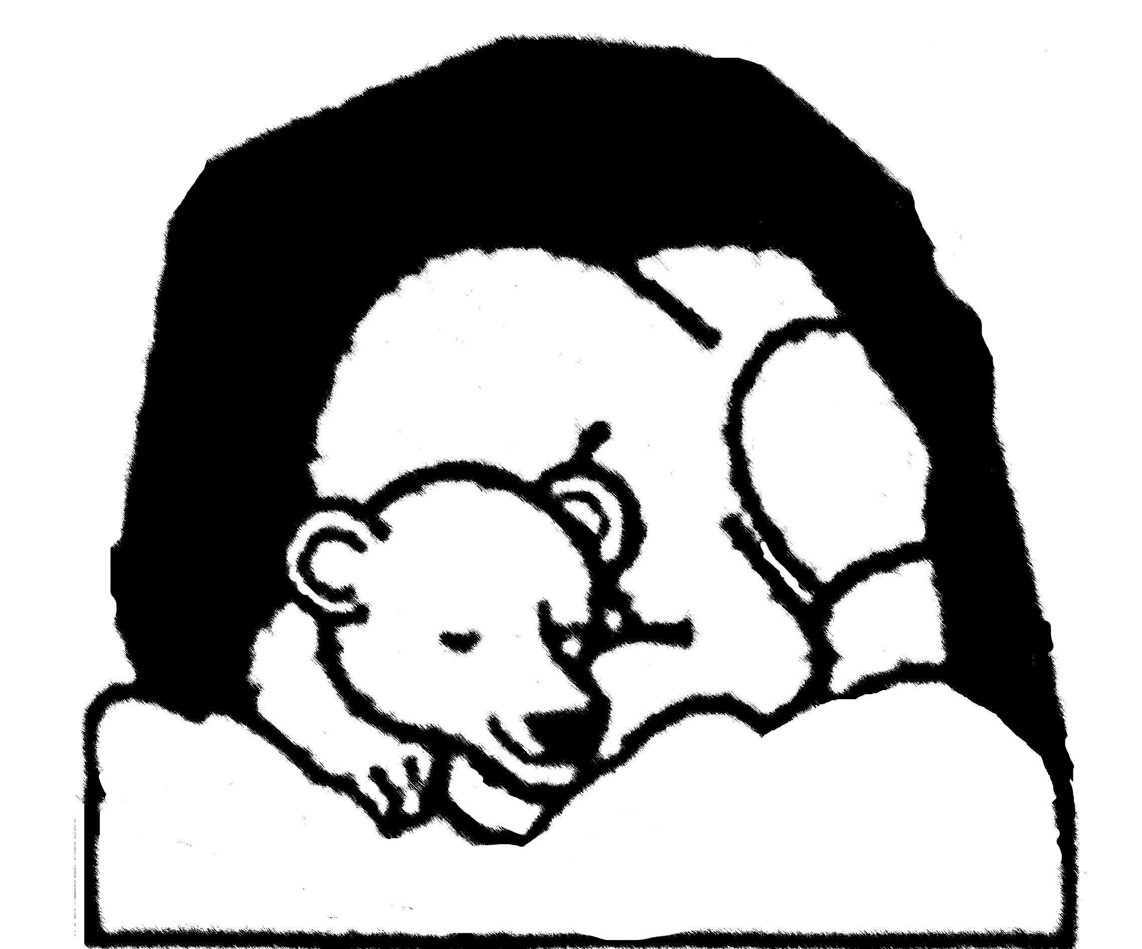 coloring pages bear hibernating - photo#27