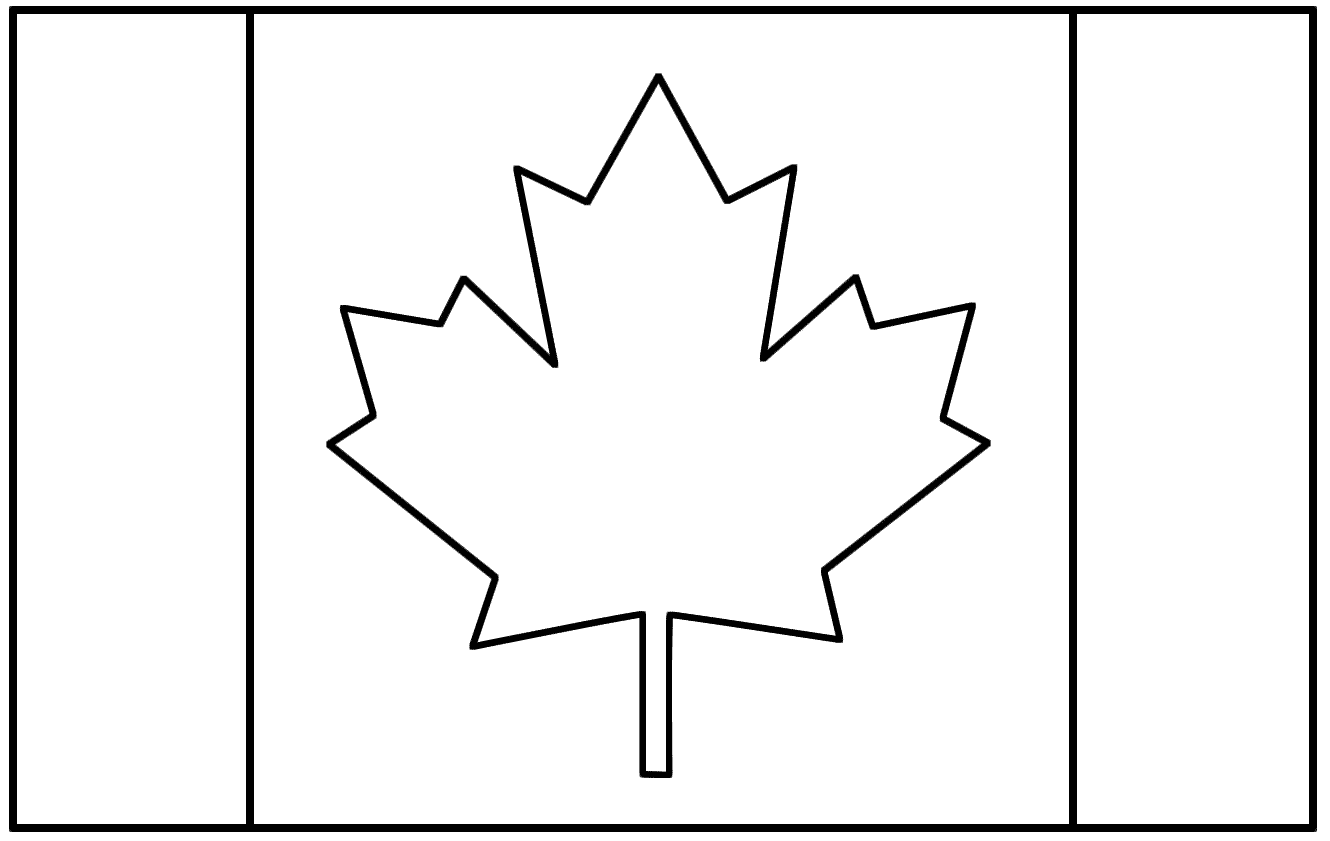Printable Canadian Flag To Color Clipart Best Canada Coloring Pages