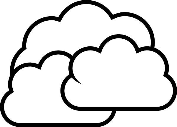Cloudy For Coloring - ClipArt Best