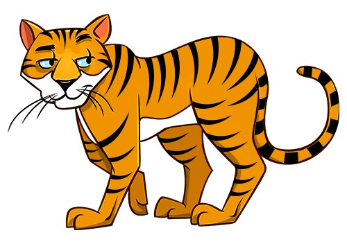 Step-by-step Instructions to Draw a Cartoon Tiger ...