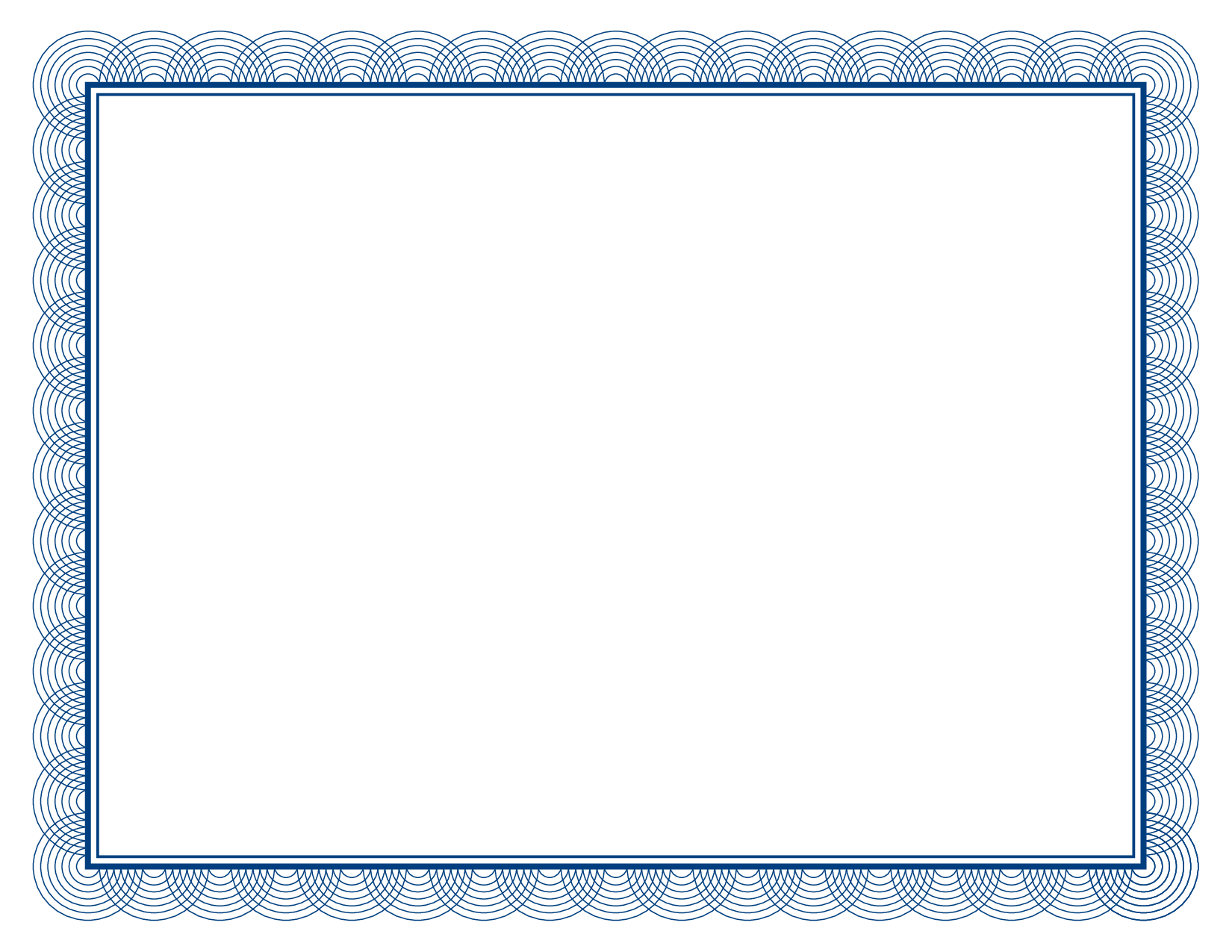 Certificate border template free clipart best for Blue certificate border