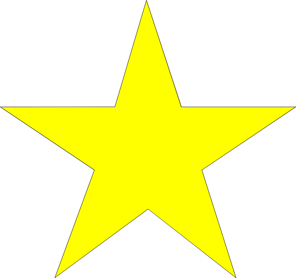 White star no background clipart best for Transparent top design