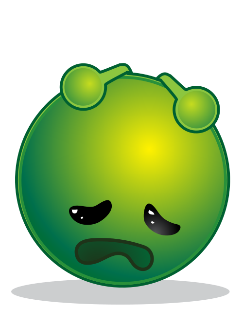 Green sad face