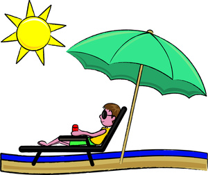 Sunbathing Clipart Image - Clipart Illustration Of A Young Man ...