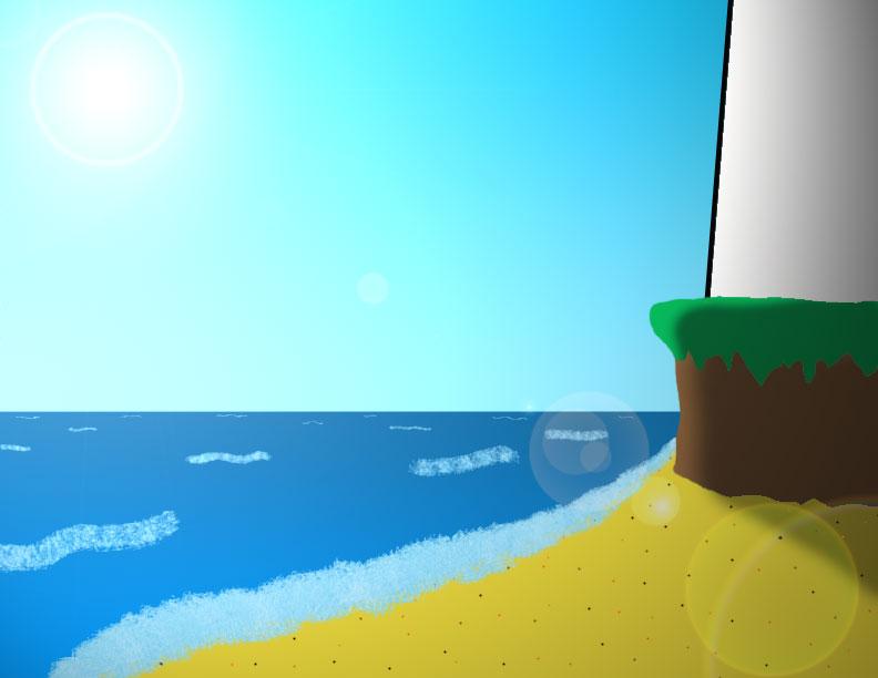 cartoon beach scene clip - photo #28