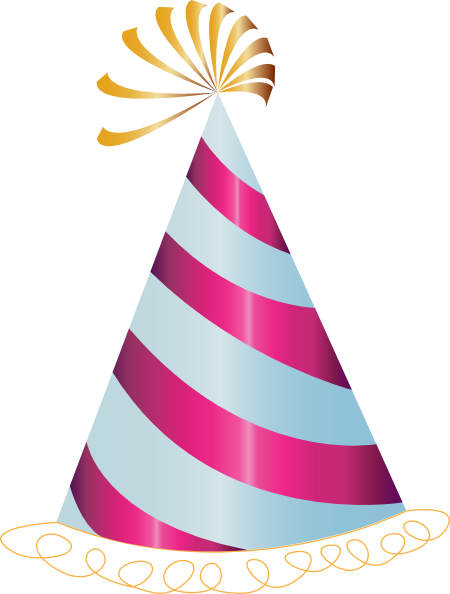 Pink Party Hat clip art - vector clip art online, royalty free ...