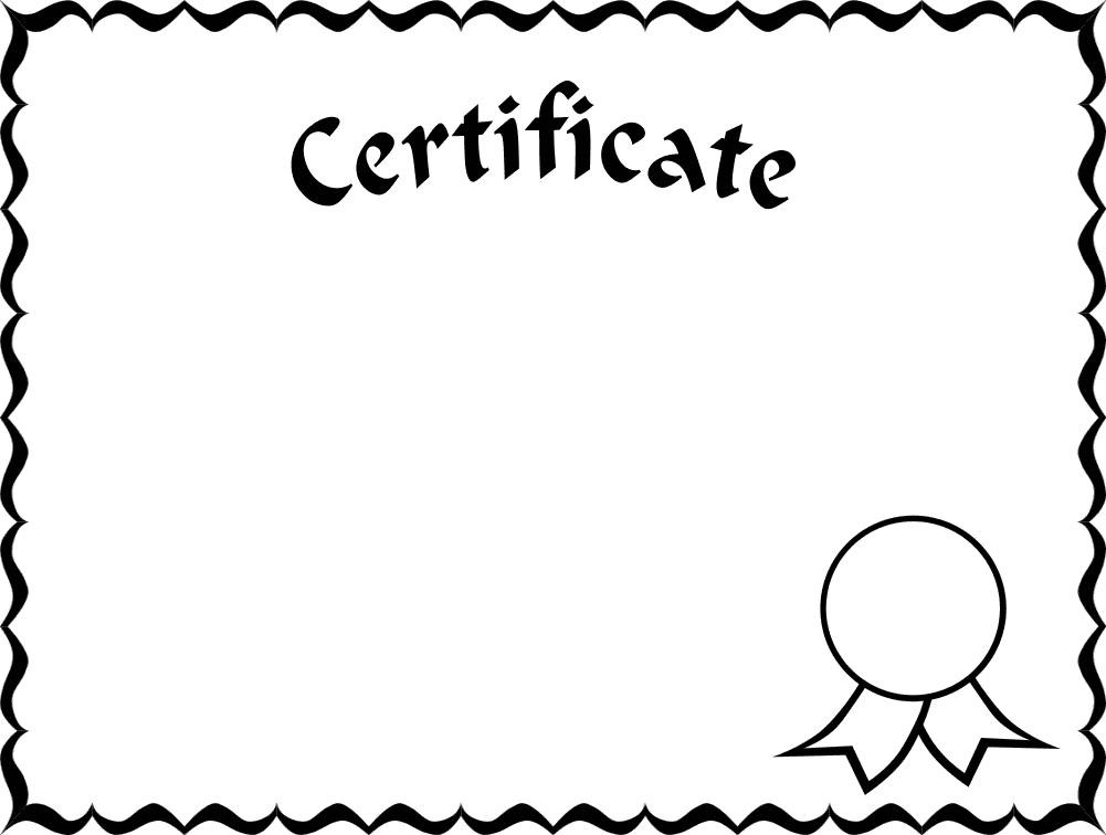 certificate blank frame border