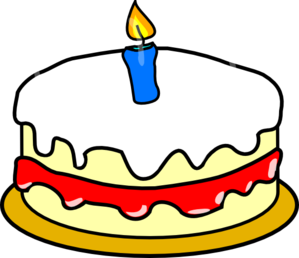 First Birthday Cake clip art - vector clip art online, royalty ...