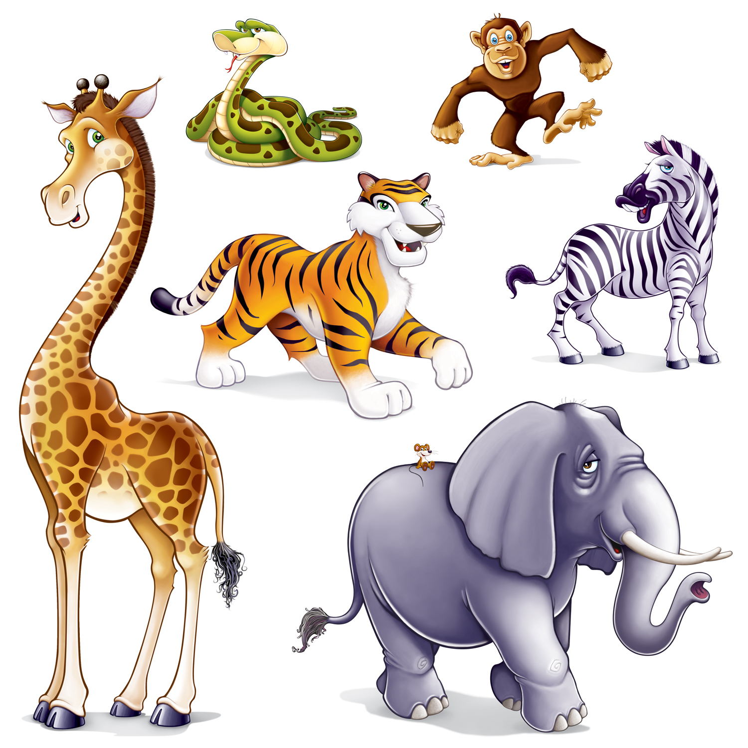 Jungle Safari Animals Clip Art Set Perfect For All Kinds
