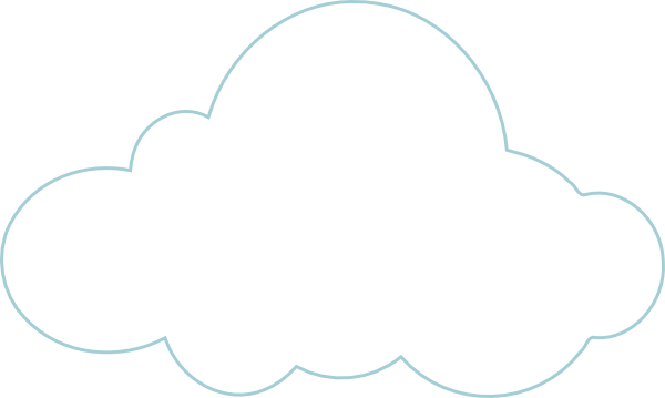 Line Drawing Clouds : Cloud line drawing clipart best