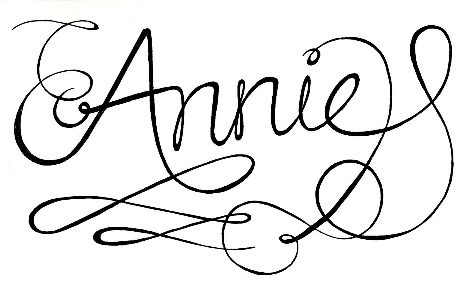 coloring pages annie - photo#9