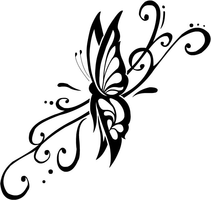 Butterfly design images clipart best - Tatouage de papillon ...