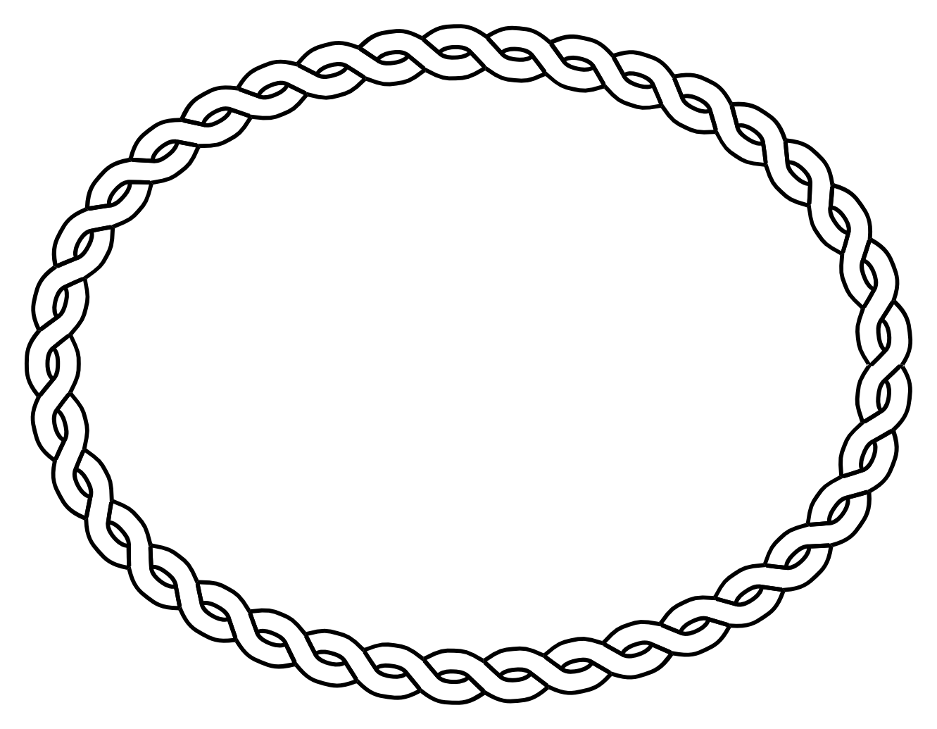 Leaf Top Border Black And White Border oval black white