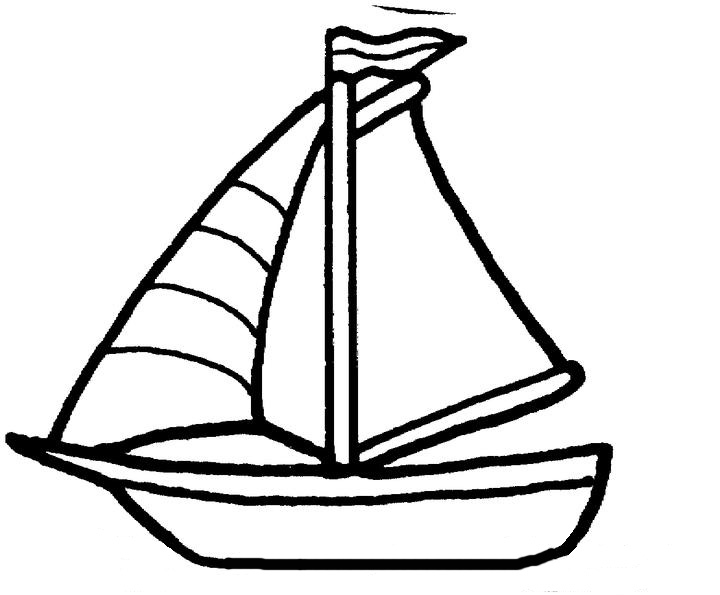Line Art Boat : Sailboat line drawings clipart best