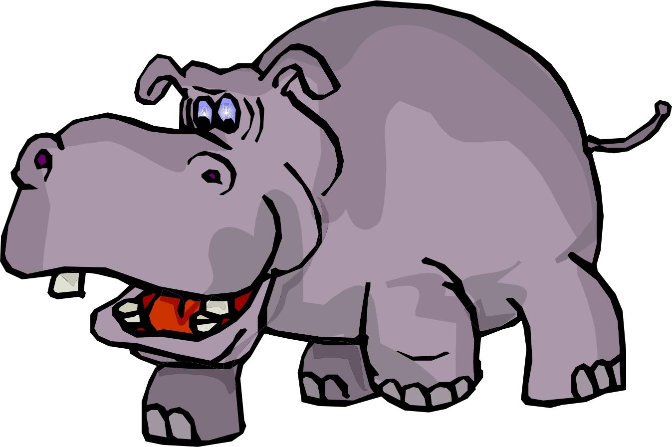 free clip art hippo cartoon - photo #12