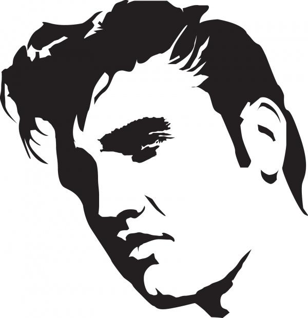 Elvis Presley stencil template | stencil template ...