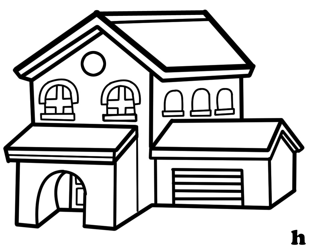 Line Art Drawing House : House line drawing clipart best