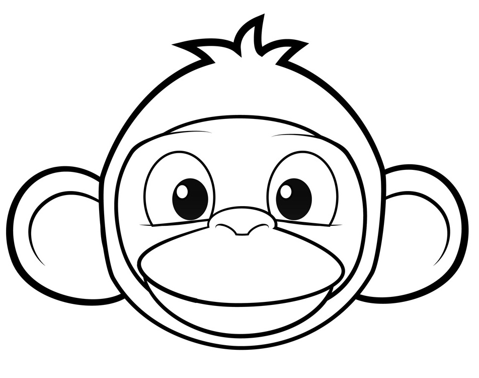 Monkey Colouring In