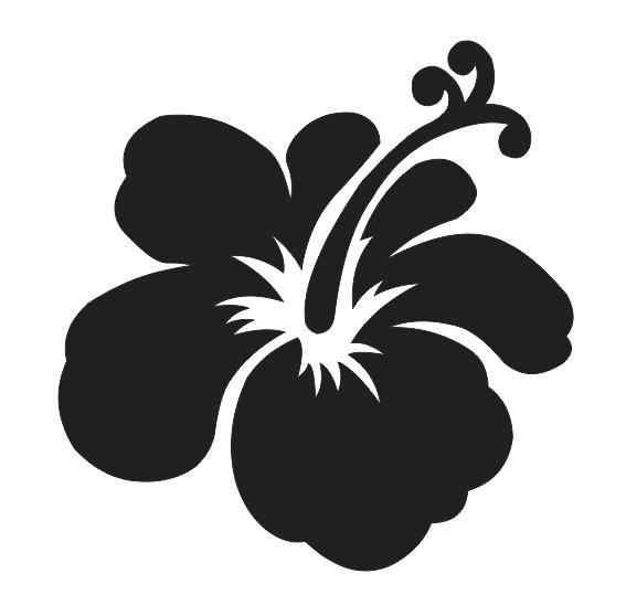 hawaiian flower stencils clipart best
