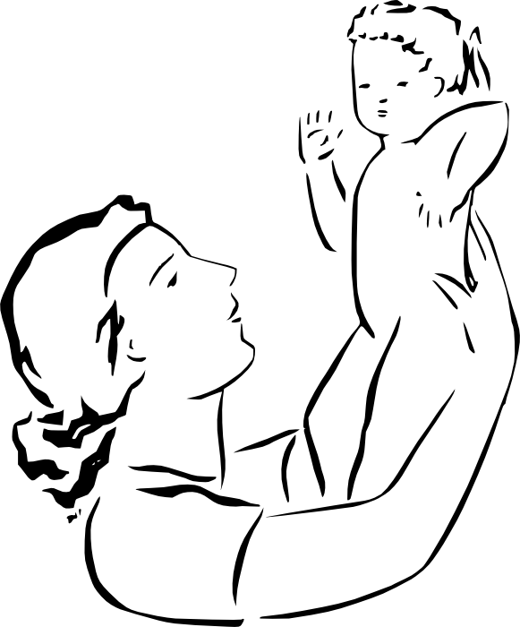Line Drawing Baby : Baby line drawing clipart best