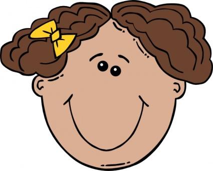 Silly Face Clip Art Girl Face Cartoon Clip Art