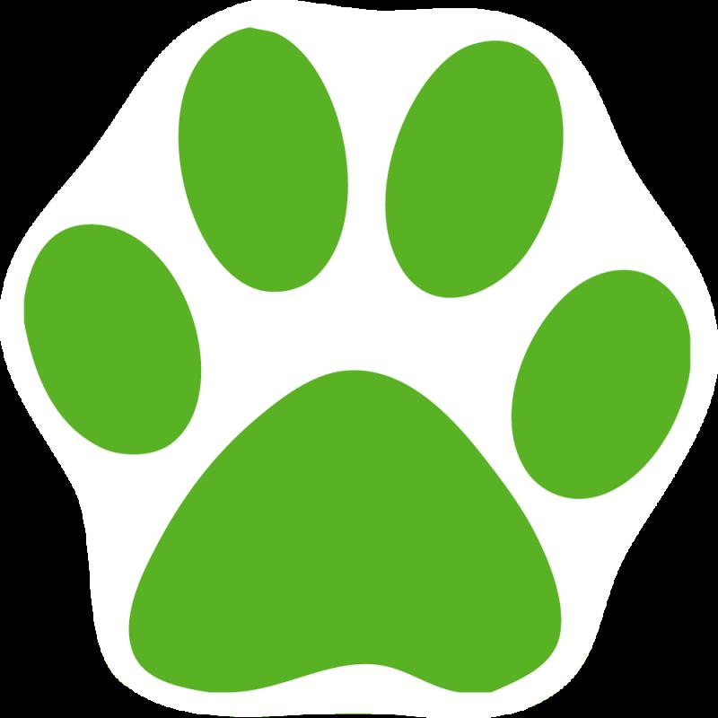 green paw print clipart best Heart Paw Print Clip Art White Paw Print
