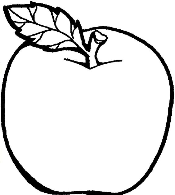 Apple Computer Coloring Pages : Fruit tree coloring clipart best