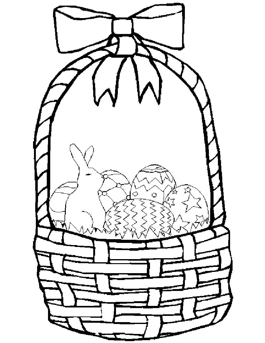 kids easter baskets coloring pages - photo#17