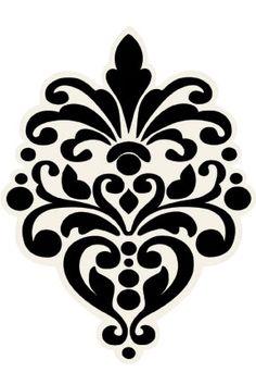 Printable Damask Pattern - ClipArt Best