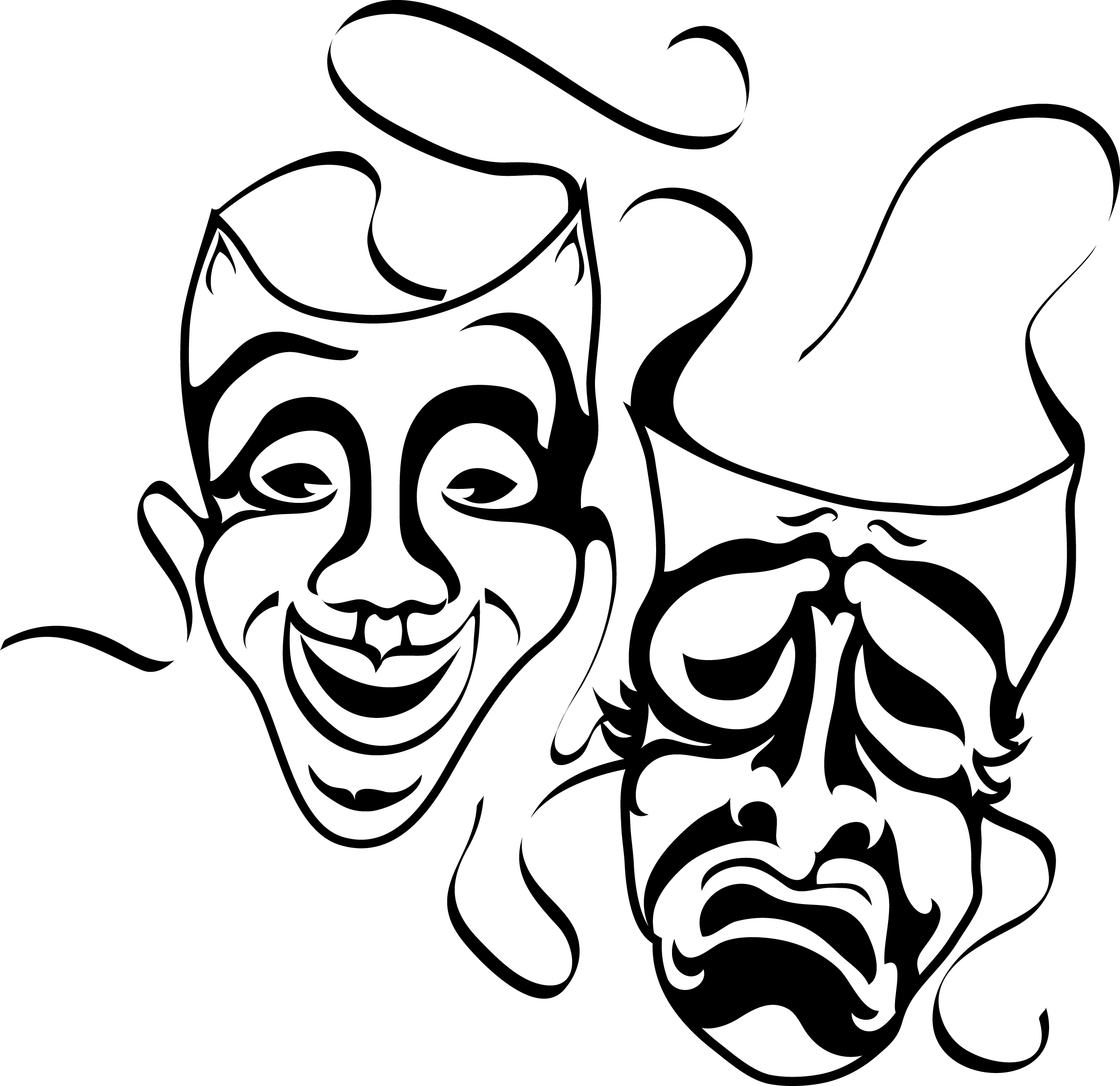 10 greek theatre masks free cliparts that you can download to you ...