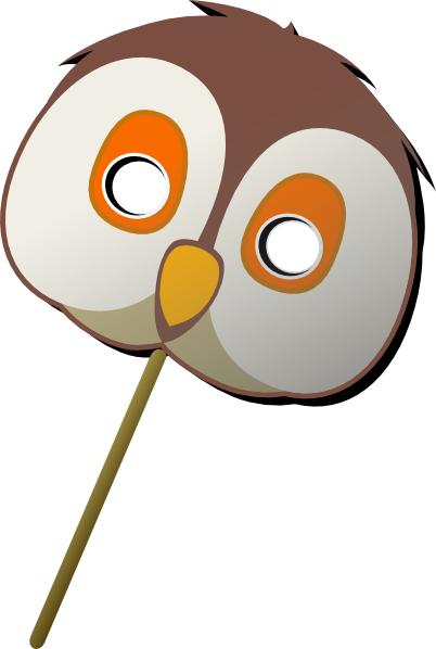 Owl Mask clip art - vector clip art online, royalty free & public ...