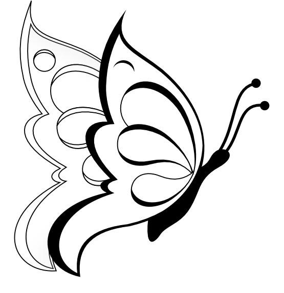 Line Drawing Of Butterfly : Butterfly line drawing clipart best
