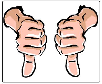 two thumbs down clipart best thumbs up and down clipart thumbs down images clip art