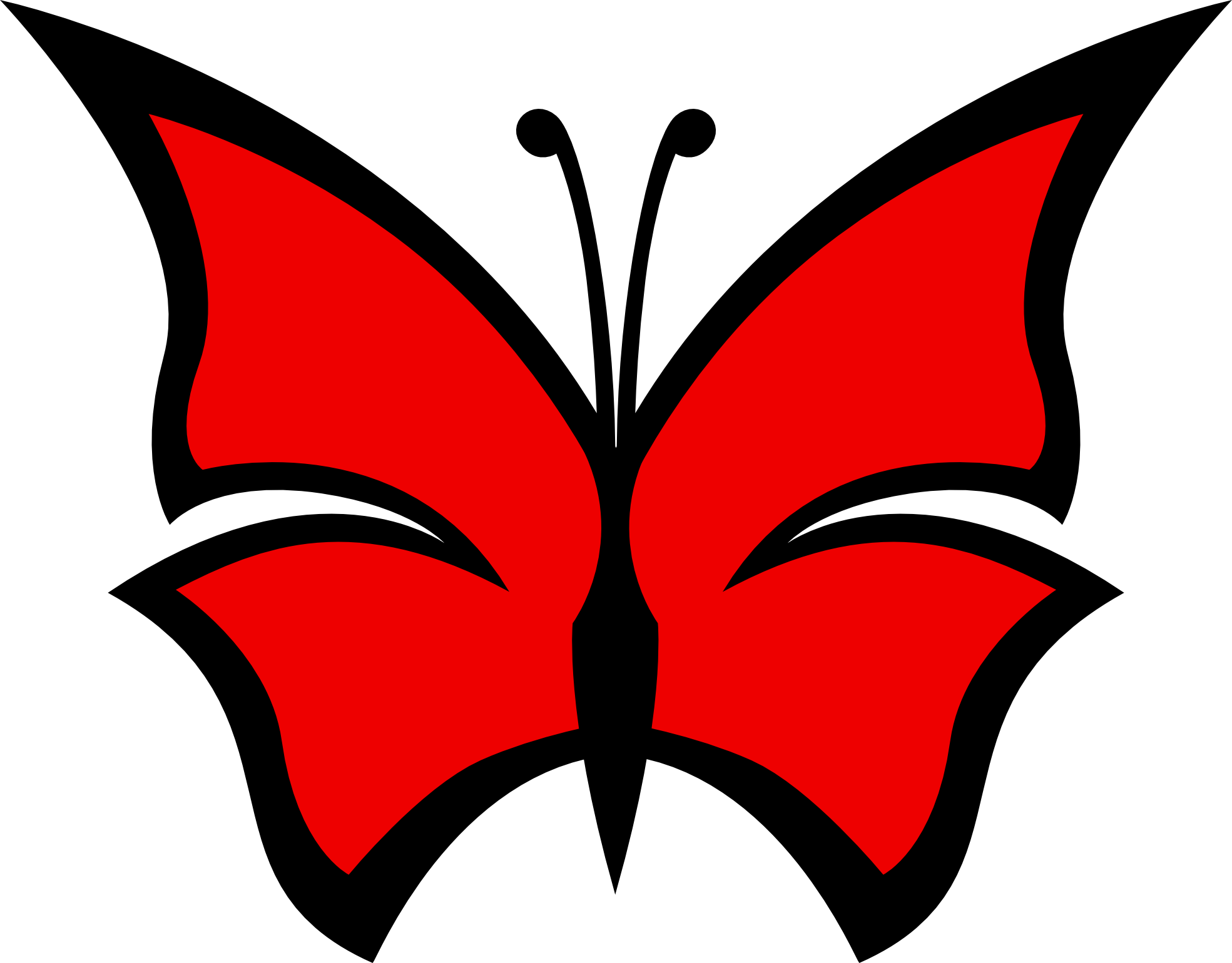 Red Butterfly Pictures - ClipArt Best