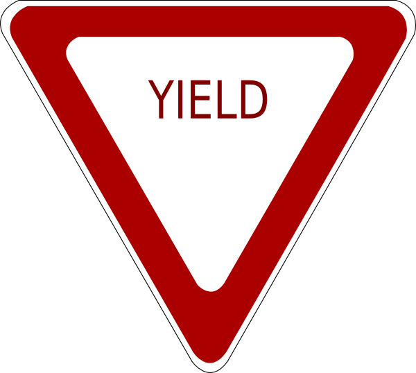 draw yield sign clipart best yield sign clipart svg yield traffic sign clip art