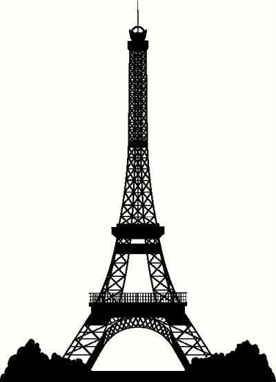 La tour eiffel eiffel tower clip art at vector clip image 1 - Eiffel Tower Silhouette Clipart Best