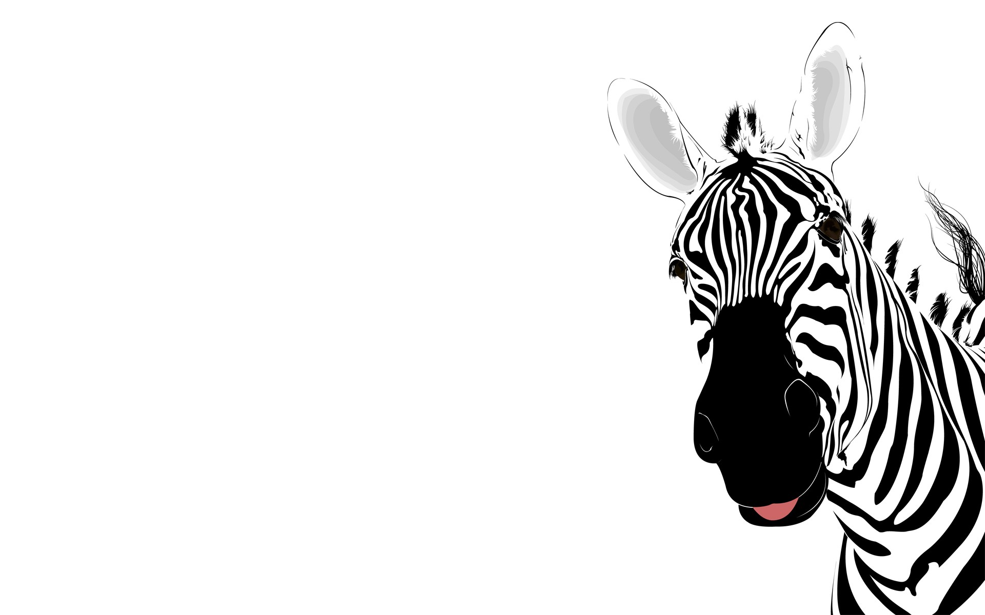 Zebra Animal Template Backgrounds Wallpapers Slide 1 1920x1200 px ...