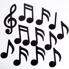 Silhouette Music Notes - ClipArt Best