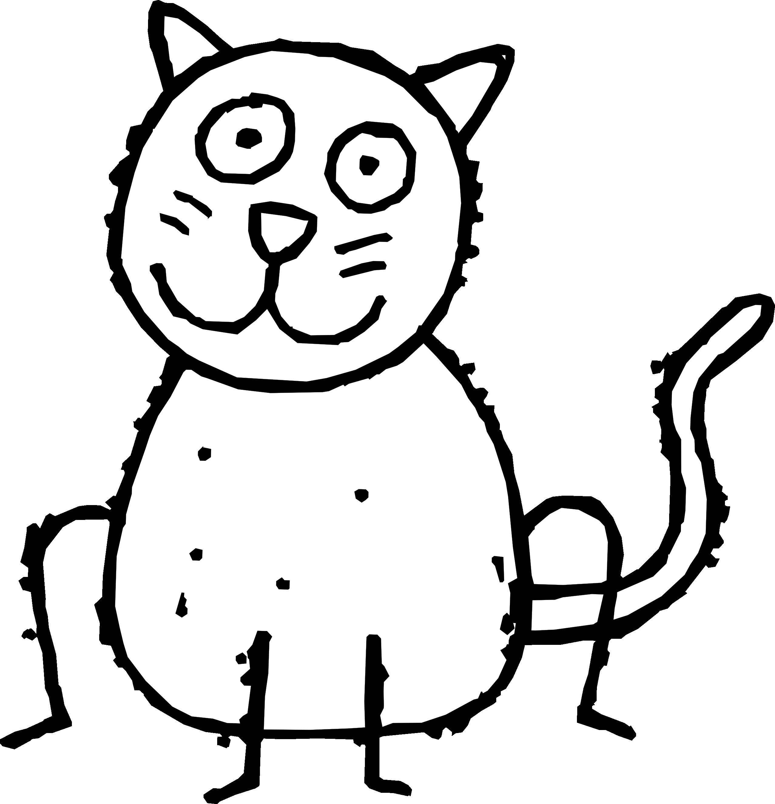 clip art cat 1 black white line art coloring clipart best clipart best