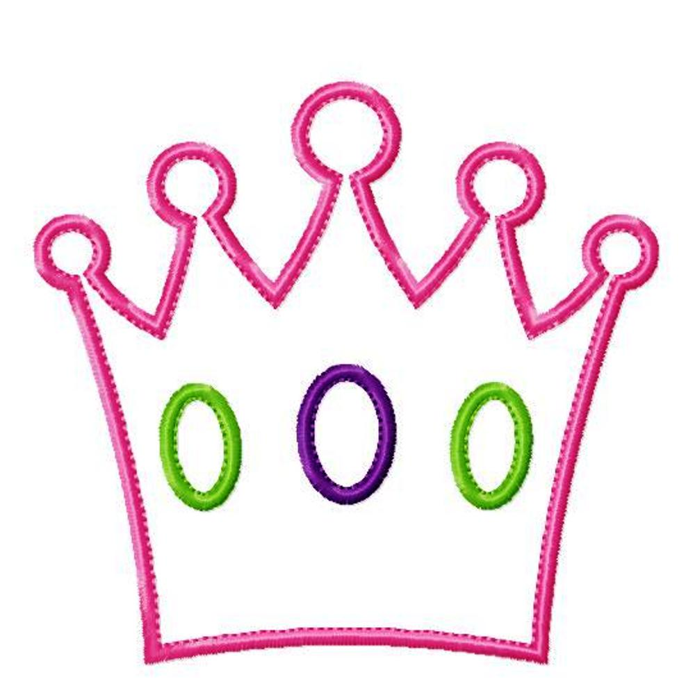 Free princess crown embroidery design online