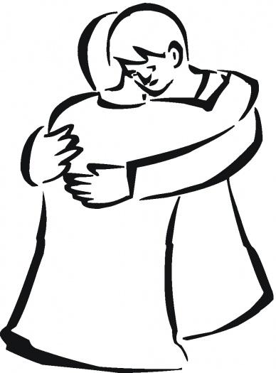 cartoon people hugging clipart best