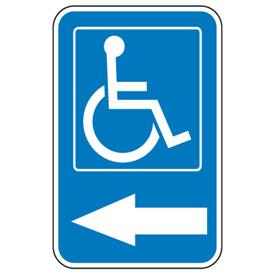 Symbol Of Access Parking Signs - Handicap Graphic and Left Arrow ...