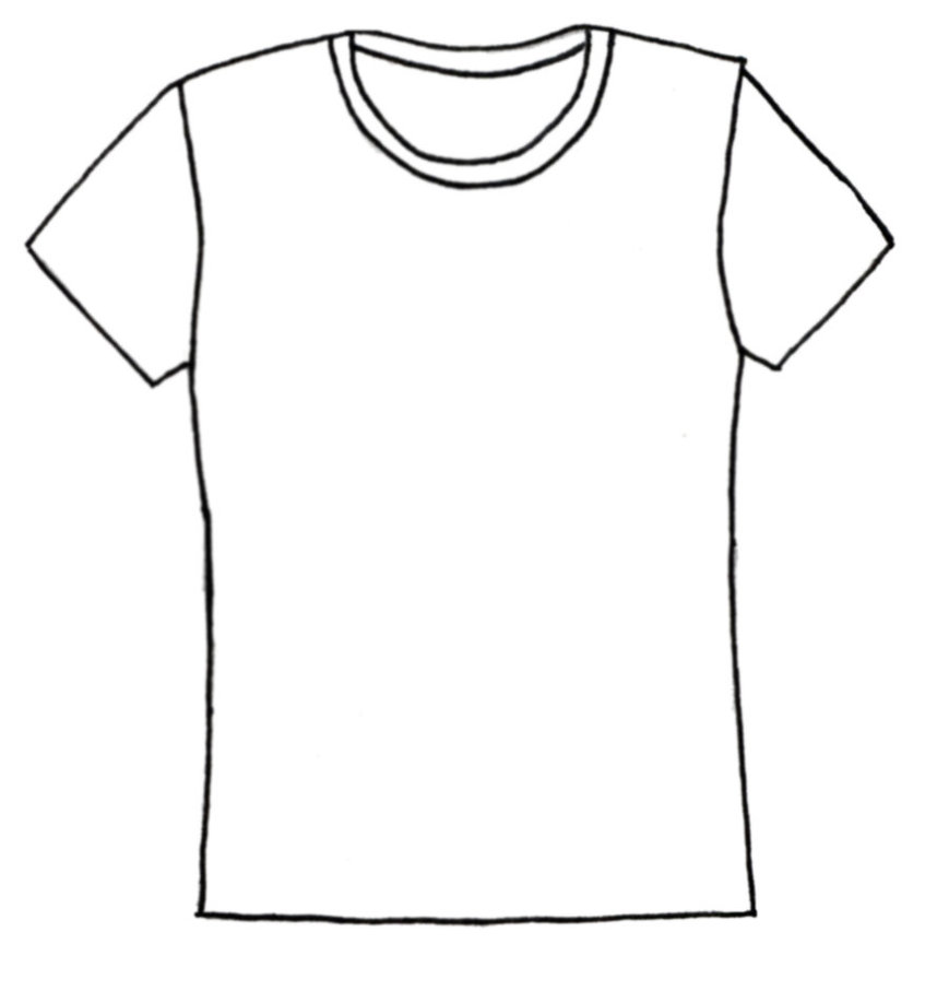 coloring pages of a shirt | White T Shirt Drawing | Jos Gandos Coloring Pages For Kids ...