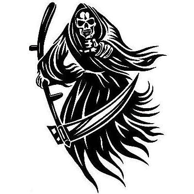 grim reaper drawings tribal clipart best